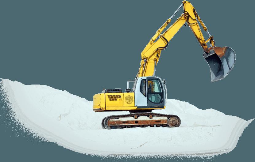 bulk road salt crane